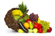 Free Composition With Variety Of Fruits Stock Image - 22050321