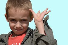Free Little Boy Showing Hand Stock Photo - 22050530