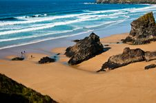 Free Bedruthen Steps In Cornwall UK Royalty Free Stock Photography - 22053857