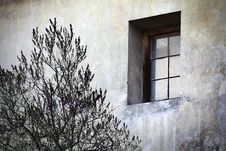 Grunge Single Window Stock Photos