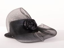 Free Small Black Stylish Hat Royalty Free Stock Images - 22054519