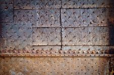 Free Old Door Rusty Metal Cover Royalty Free Stock Images - 22056959