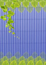 Free Green Leafs On Blue Roof-tile. Stock Photo - 22062120