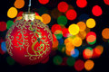 Free Christmas Decoration On Defocused Royalty Free Stock Photography - 22062327