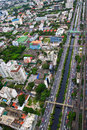 Free Top View Of Bangkok Of Thailand Royalty Free Stock Photos - 22067888