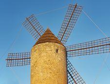 Free Spanish Windmill Royalty Free Stock Image - 22060416