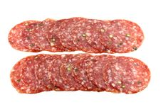 Free Fresh Spicy Pepper Salami / Pepperoni Stock Photos - 22060743