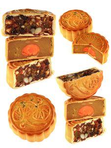 Free Different Types Of Mooncake (Durian, Fruitcake) Stock Image - 22060791