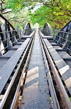 Free Railway Of River Kwai Bridge,Kanchanaburi Stock Images - 22061514