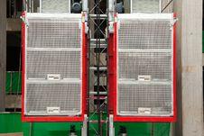 Construction Hoist Lift Royalty Free Stock Image