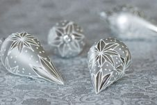 Free Silver Christmas Ornaments Stock Photo - 22062820