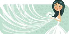 Free Bride Banner In Vector Royalty Free Stock Images - 22064229