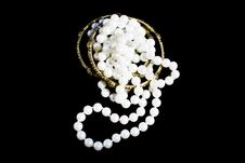 Free Bundled Fashion Pearls And Bracelets Royalty Free Stock Images - 22065159