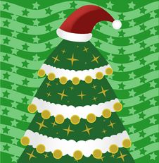 Free Christmas Tree With Hat Royalty Free Stock Images - 22067859
