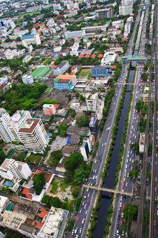 Free Top View Of Bangkok Of Thailand Royalty Free Stock Photos - 22067888