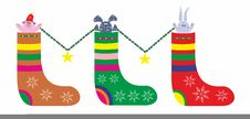Free Christmas Stocking Royalty Free Stock Photography - 22068337