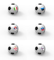 Free Euro 2012, Soccer Ball With Flag - Group C Stock Photography - 22069022