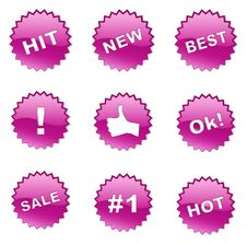 Free Set Of Selling Badges (buttons) Stock Images - 22069384