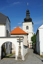 Free Parish Office And Church In Svitavy Stock Photo - 22077370