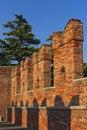 Free Old Brick Bridge In Verona (Italy) Royalty Free Stock Photos - 22078448