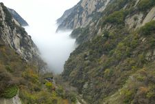 Landscape Of Mount Hua Royalty Free Stock Images