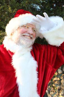 Free Santa Peering Into The Distance 2 Royalty Free Stock Photo - 22071275