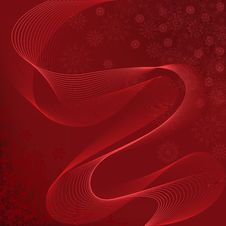 Free Red Background With Waves Royalty Free Stock Image - 22071956