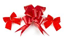 Free Christmas Red Bow Royalty Free Stock Photo - 22074755