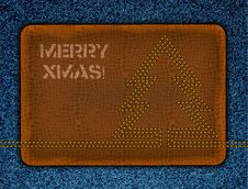 Denim Xmas Background. Stock Photos