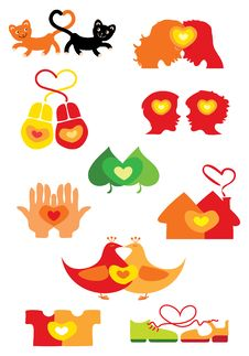 Free Hearts Icons Royalty Free Stock Images - 22077469
