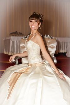 Free A Portrait Of A Beautiful Happy Bride Stock Photography - 22077772