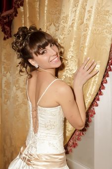 Free A Portrait Of A Beautiful Happy Bride Royalty Free Stock Photos - 22078068