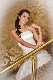 Free A Portrait Of A Beautiful Happy Bride Royalty Free Stock Photo - 22078225
