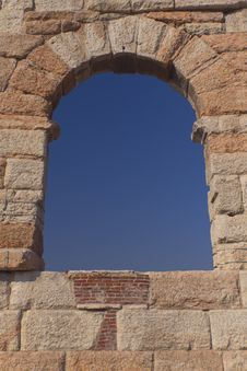 Free Window In Ancient Arena Di Verona Royalty Free Stock Image - 22078416