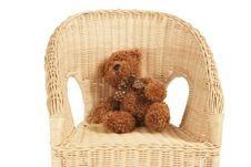 Free Bear On A Chair Royalty Free Stock Photo - 22078515