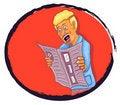 Free Man Reading Newspaper Stock Photos - 22089233