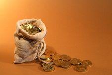 Free Burlap Sack With Money Stock Photos - 22083403