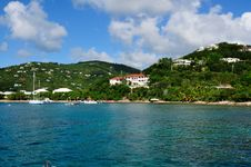 Tropical Coastline On St. John, US Virgin Island Royalty Free Stock Image
