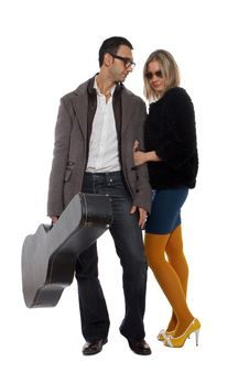 Free Musician With His Girlfriend Stock Photo - 22088490