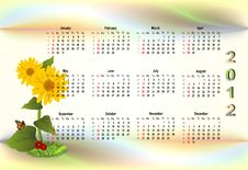 Free Colorful 2012 Calendar Stock Images - 22089234