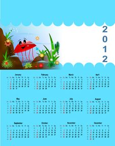 2012 Calendar For Children Stock Photography