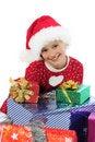 Free Funny Christmas Girl Stock Image - 22091311