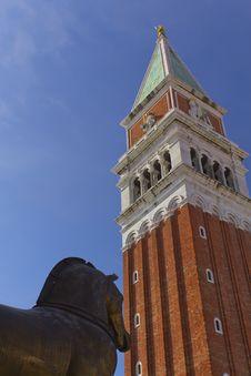 Free Campanile In Piazza San Marco (Venice) Stock Image - 22090061