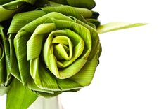 Free Roses Made From Pandanus Leaf Stock Image - 22091011