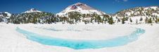 Free Winter Panorama Mount Lassen Volcano Stock Photos - 22093393