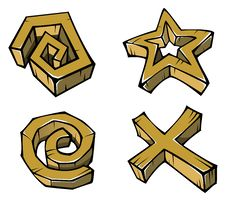 Free Geometrical Stone Figures Royalty Free Stock Photo - 22094015