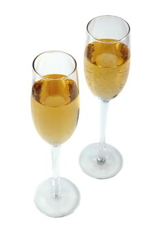 Free Two Glasses Of Champagne. Royalty Free Stock Photo - 22094285