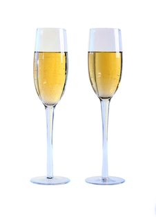 Free Two Glasses Of Champagne. Stock Photos - 22094313