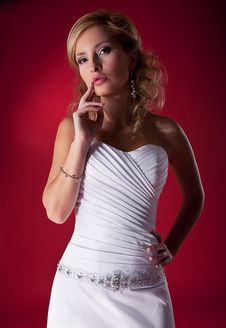 Bride - Fashion Model. Royalty Free Stock Photos