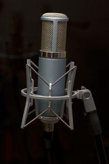 Broadcast Microphone Stock Photo